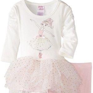 Blueberi Boulevard Matching Sets - Baby Girls Ballerina Tutu Legging Set Outfit NB